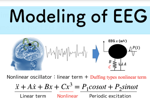 Modeling of EEG (Experimental Parameters Identification and Statistical Processing of Model Parameters)