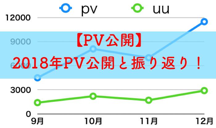 【PV公開】研究ブログをつづり4ヶ月,2018年PVの公開と振り返り!