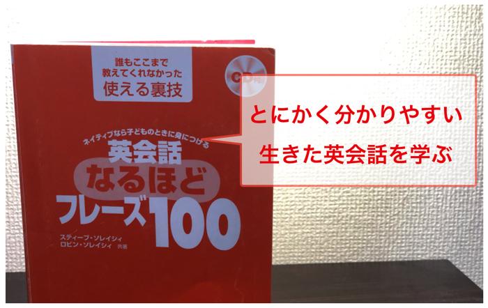 【オススメ図書】英会話、初学者の方は「英会話なるほどフレーズ100」がおすすめ