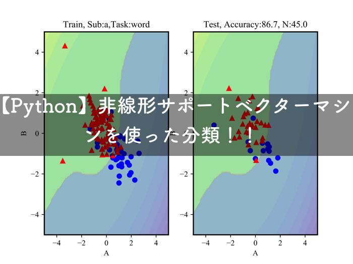 【Python】非線形サポートベクターマシンを使って,同定したモデルパラメータの分類を行う