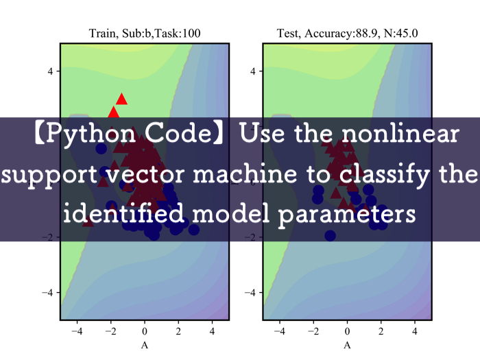 【Python Code】Use the nonlinear support vector machine to classify the identified model parameters